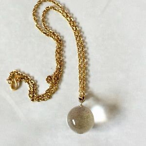 Kenneth Jay Lane Crystal Ball Pendant Necklace